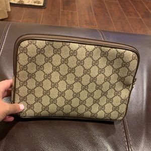 Gucci Vintage Clutch/Makeup bag